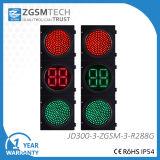 commutatore rosso del semaforo di verde LED di 300mm con un conto alla rovescia di due Digitahi