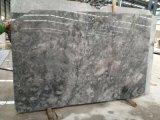 Nuove mattonelle grige naturali della parete del marmo della pietra del fiore della Cina