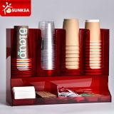Organisateur de plastique acrylique de serviettes de café