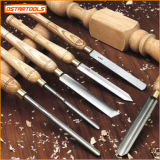 Conjunto de talla de madera del cincel del torno para las herramientas de la mano y los mangos de maniobra de la carpintería usados para la máquina