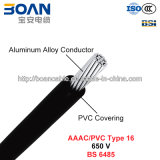 AAAC/PVC Type 16, PVC Covered Conductors für Overhead Power Lines, 650 V (BS 6485)