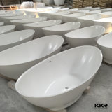 Baignoire extérieure solide ronde simple de tourbillon de salle de bains