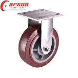 100mm drehende Hochleistungsfußrolle mit PU-Rad (Edelstahl)