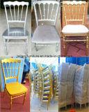 ナポレオンの耐久の安いスタッキングアルミニウム結婚の椅子