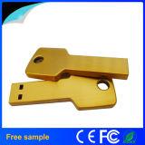 Movimentação do flash do USB da forma da chave do metal das amostras livres