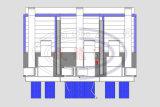 Cabine da pintura de pulverizador Wld9300 e Wld-PS-B3 do costume (CE) e estação combinadas da preparação
