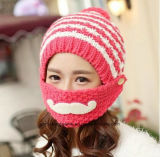 Sombreros hechos punto invierno caliente de Coverd de la boca de la muchacha de la manera