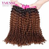 Tessuto brasiliano dei capelli umani di Ombre di colore di tono di mode due