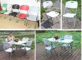 Metal al aire libre plegable la silla de jardín plástica