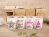 Duftende Sojabohnenöl-Kerze im bereiftes Glas-Glas für Weihnachten