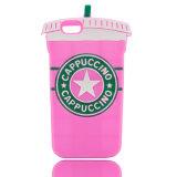 крышка телефона чашки чая молока случая 6 сотового телефона iPhone 6 Starbucks шаржа 3D добавочная мягкая (XSF-011)