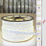 Indicatore luminoso flessibile ad alta tensione della corda di 2835 doppio 220V LED