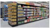 Bildschirmanzeige-Speicher-Metallsupermarkt-Regal