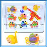 Jet d'eau du dessin animé des gosses et jeu animaux de jouet de jeu de pêche