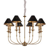 Lâmpada do pendente do candelabro do ferro com o suporte E14 para a casa
