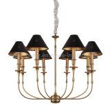 ホーム(SL2096-6B)のためのファブリック陰との鉄のシャンデリアの吊り下げ式の照明