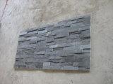 Ardósia de canto de pedra cinzenta natural para a parede