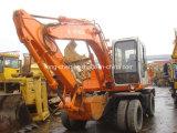 Máquina escavadora usada boas condições da roda de Hitachi (EX100WD-1)