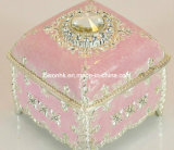 OEM Fancy Pink Jewelry Box/Luxury Clamshell Ring Box 또는 Necklace Box