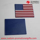 Sottobicchiere rotondo del reticolo di rettangolo del cuore del reticolo su ordinazione della bandiera nazionale