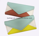 Heiße verkaufenc$mischen-farbe Form-Dame Wallet/Mappe PU-Leder/Mappe am populärsten