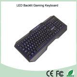 Multi 3 цвета 104 ключа связали проволокой клавиатуры загоранные письмом Ergonomics (KB-1801EL)