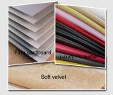 Haltbarer PUlederner Leatherette-Samt-Schmucksache-Kasten