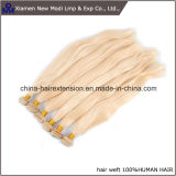 Pelo rubio de la naturaleza de Remy de la extensión del pelo humano