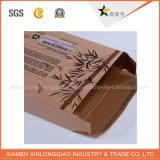 Rectángulo de papel de encargo de Brown Kraft de la talla con la ventana del PVC