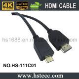 Mini soportes de cable de alta velocidad de HDMI 3D 4k contento, 2160p