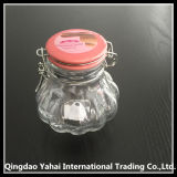 300ml Oval Pattern Glass Storage Jar