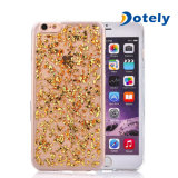 Transparent Gold Foil Flexible Soft Silicone TPU Protective Shell for iPhone 4.7 '' /5.5 ''