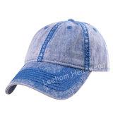 Chapeau promotionnel fait sur commande de chapeau de plaine de blanc de base-ball de sports