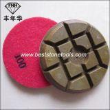 Almofada de polonês seca molhada do diamante do tufão Cr-14 para o assoalho concreto