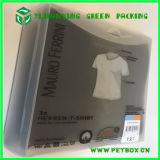 La ropa de la camisa diseña la caja plástica clara de los PP