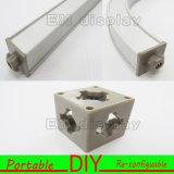Portáteis da estrutura o Velcro de alumínio e fáceis anexados instalam o carrinho padrão da exposição