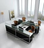 De moderne Freestanding Verdeling van het Glas van het Werkstation van het Bureau met Mobiel Voetstuk (HF-YZQ321)