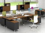 Деревянная офисная мебель 4 места l рабочая станция перегородки офиса формы (SZ-WST723)