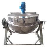 Aço inoxidável sanitário do alimento que inclina o tipo chaleira Jacketed do vapor