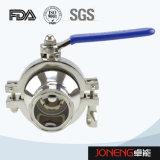 Vávula de bola soldada con autógena manual de la categoría alimenticia del acero inoxidable (JN-BLV1001)