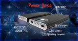con la iluminación en la batería de la potencia de la visualización del LCD de la superficie de la aleación de aluminio y el cargador del teléfono