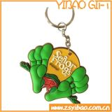Trousseau de clés fait sur commande de PVC, porte-clés pour les cadeaux de promotion (YB-PK-42)