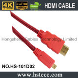 물집을%s 가진 마이크로 HDMI M/M PVC 케이블