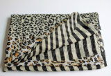fashion Leopard Printed Polyester 숙녀 보일 무한대 스카프 (YKY1103)