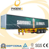 los 40ft 50tons 3 Axle Curtain Utility Trailer con BPW Axle