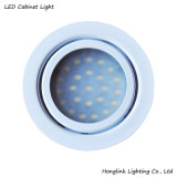 Ce Chrome Round LED Cabinet Light Recessed Furniture and Cabinet