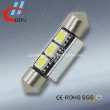 5050 indicatore luminoso dell'automobile del messaggio di errore dell'annullamento di 3SMD 39mm LED Canbus