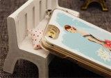 Bling pintó la caja del teléfono celular de la princesa arena rápida TPU para el iPhone/Samsung/LG/Moto