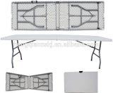 Mala de viagem Table de Furniture 8ft Durable Plastic Folding Long do jardim (molde de sopro, acampar, piquenique, partido, eventos)