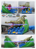 مزح [أموسمنت برك] تجاريّة حيوانيّ بالغ تمساح منزلقة قابل للنفخ ([ر-042])
